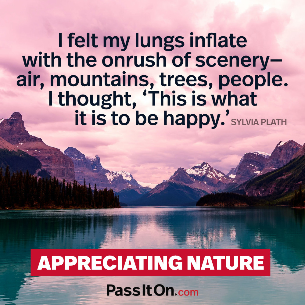 Appreciating nature